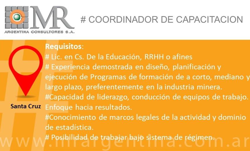 COORDINADOR DE CAPACITACIÓN